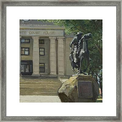 On Courthouse Square Framed Print by Paul VerBurg
