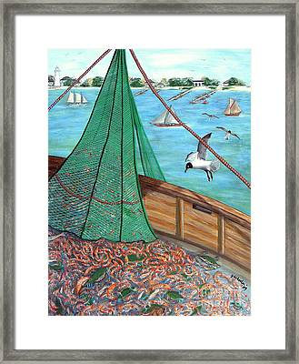 On Deck Framed Print by JoAnn Wheeler