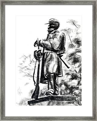 On Duty In Brigadoon  No Ch101 Framed Print by Kip DeVore