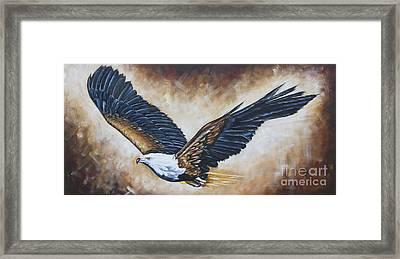 On Eagle's Wings Framed Print by Ilse Kleyn