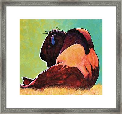 On Empty Bison Framed Print by Joe  Triano