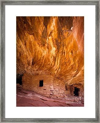 On Fire Framed Print by Inge Johnsson