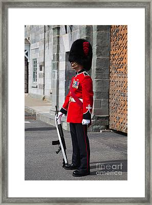On Guard Quebec City Framed Print by Edward Fielding