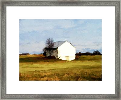 On Hwy B Near Ogdensburg.  Framed Print by David Blank