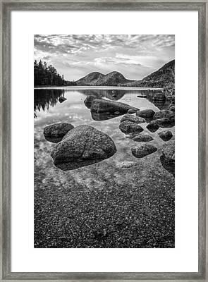 On Jordan Pond Framed Print by Kristopher Schoenleber