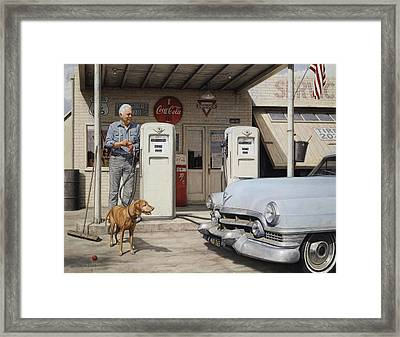 On Route 66 Framed Print by Ron Crabb