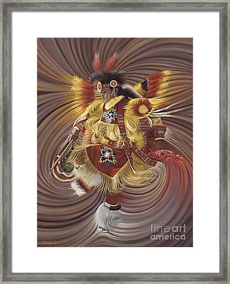 On Sacred Ground Series 4 Framed Print by Ricardo Chavez-Mendez