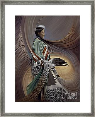 On Sacred Ground Series I Framed Print by Ricardo Chavez-Mendez