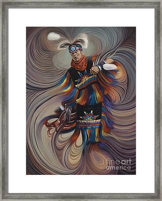 On Sacred Ground Series II Framed Print by Ricardo Chavez-Mendez