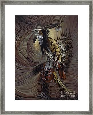On Sacred Ground Series IIl Framed Print by Ricardo Chavez-Mendez