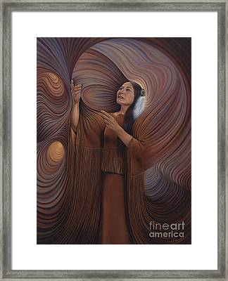 On Sacred Ground Series V Framed Print by Ricardo Chavez-Mendez