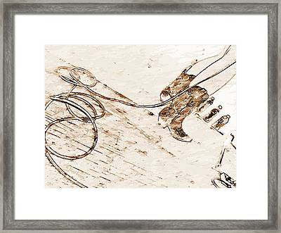 Cowboy Pencil Drawings Framed Print featuring the photograph On Stage by Chris Berry