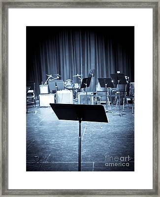 On Stage Framed Print by Edward Fielding