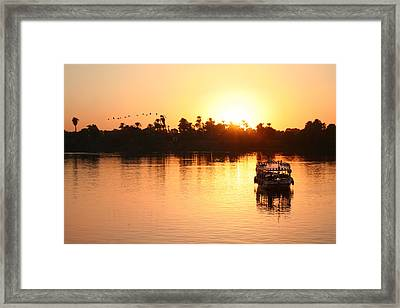 On The Banks Of The Nile.. Framed Print by A Rey