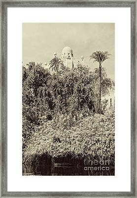 On The Banks Of The Nile Framed Print by Nigel Fletcher-Jones