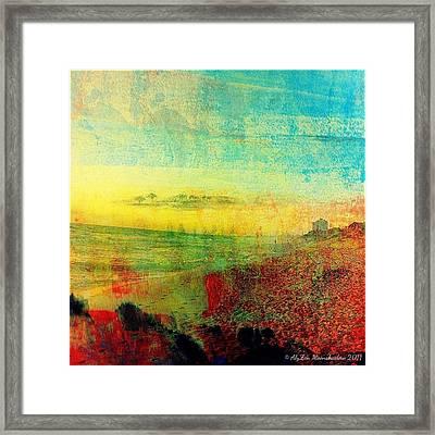 On The Beach  Framed Print by AlyZen Moonshadow