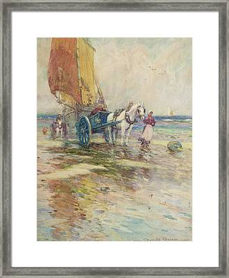On The Beach  Framed Print by Oswald Garside