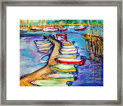 On The Boardwalk Framed Print by Helena Bebirian