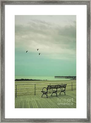 On The Boardwalk Framed Print by Margie Hurwich