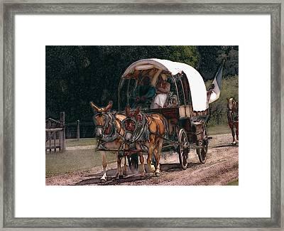 On The Bozeman Trail Framed Print by Kae Cheatham