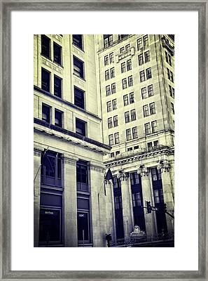 On The Corner In Nashville Framed Print by Dan Sproul