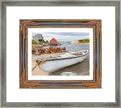 On The Dock Framed Print by Betsy Knapp