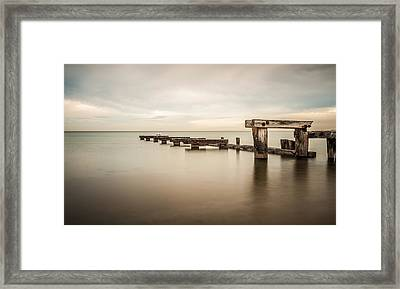 On The Dock Of The Bay Framed Print by Shari Mattox