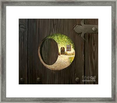 On The Doorstep Framed Print by Kiril Stanchev