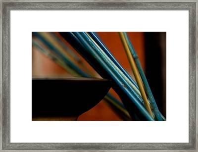 On The Edge Framed Print by Angelina Vick