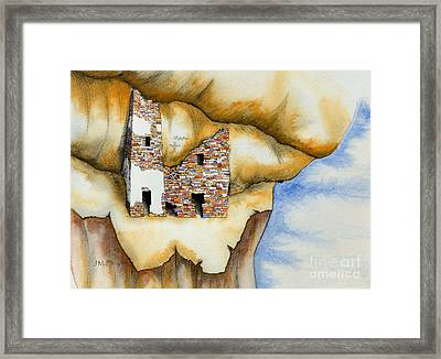 On The Edge Framed Print by Jerry McElroy