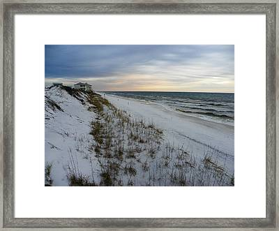 On The Edge Of The World Framed Print by Judy Wanamaker