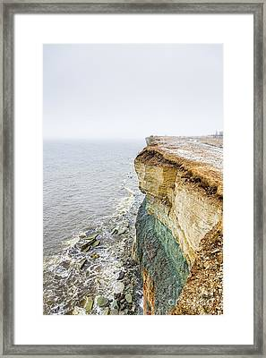 On The Edge Of The World Framed Print by Mario Mesi