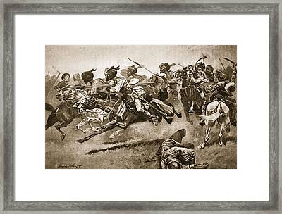 On The Expedition To Pao-ting-fu A Framed Print by Stanley L. Wood