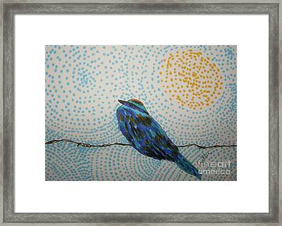 On The Fence Framed Print by Marcia Weller-Wenbert