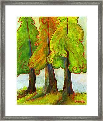 On The Forest's Edge Framed Print by Blenda Studio