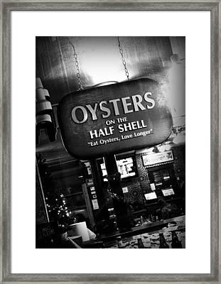 On The Half Shell Framed Print by Scott Pellegrin