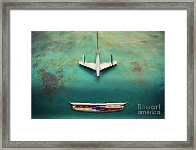 On The Hood  Framed Print by Tim Gainey