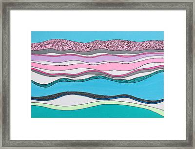 On The Horizon Framed Print by Susan Claire