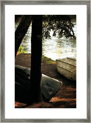 On The Island Framed Print by Michelle Calkins