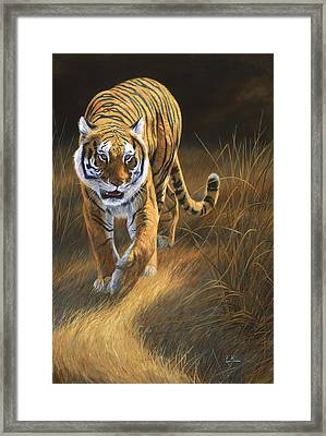 On The Move Framed Print by Lucie Bilodeau