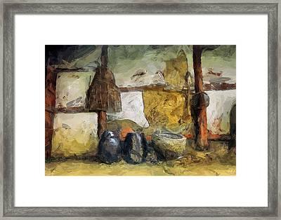 On The Old Farm Framed Print by Gun Legler