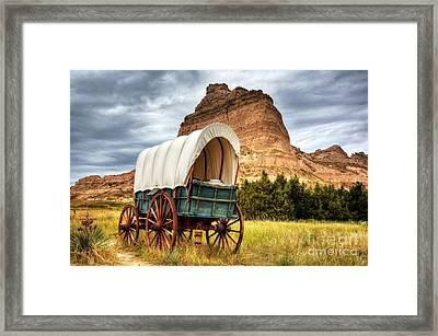 On The Oregon Trail Framed Print by Mel Steinhauer