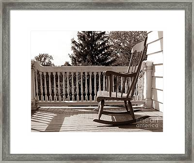 On The Porch Framed Print by Olivier Le Queinec