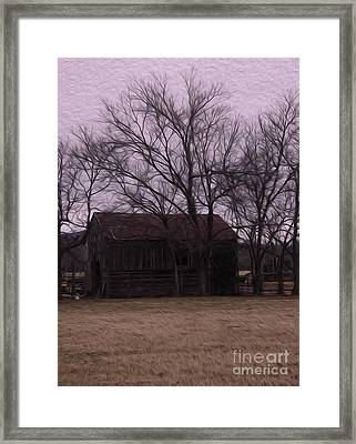 On The Ranch Framed Print by R McLellan