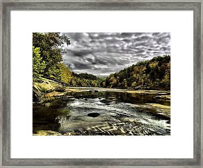 On The River Framed Print by Ken Frischkorn
