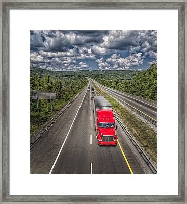 On The Road Again E61 Framed Print by Wendell Franks
