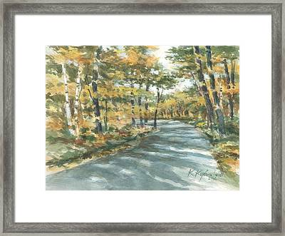 On The Road Home Framed Print by Kerry Kupferschmidt