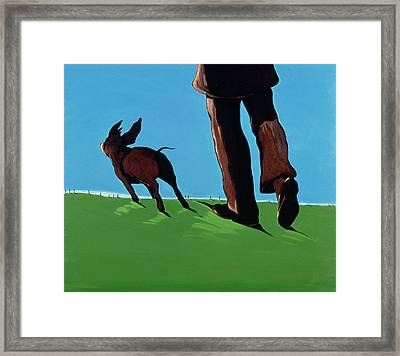 On The Road To Chestertown, 1997 Framed Print by Marjorie Weiss