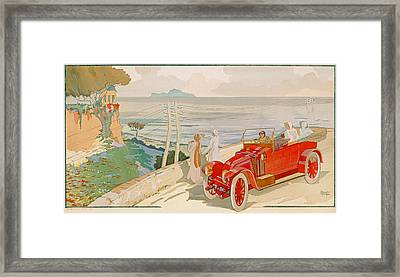 On The Road To Naples Framed Print by Aldelmo