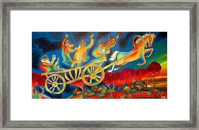 On The Road To Rebbe Framed Print by Leon Zernitsky